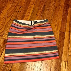 Multi-color, J.Crew mini skirt